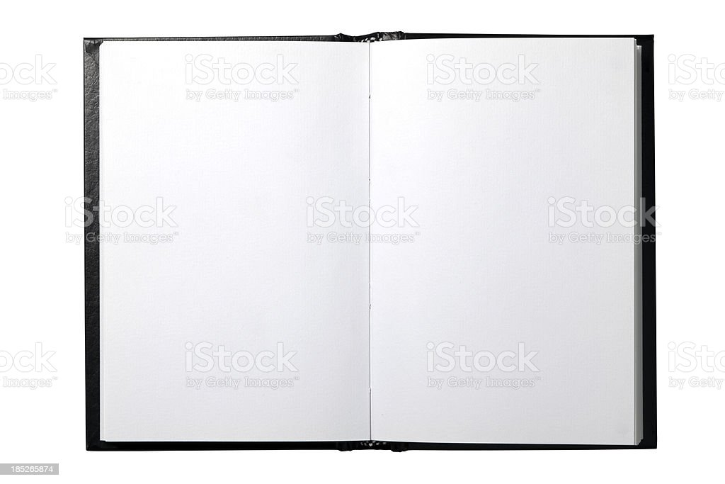 Open Book With Clipping Path stock photo