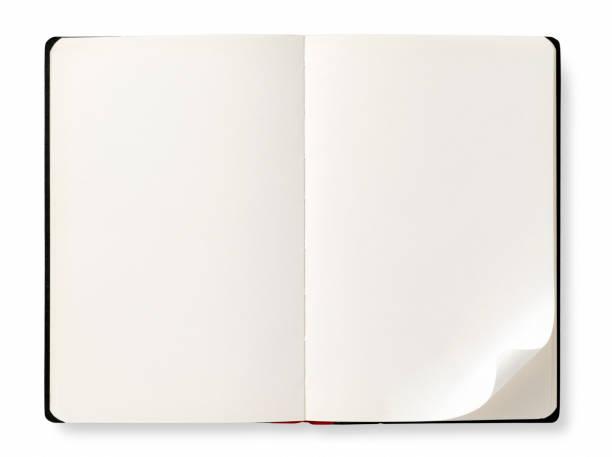 Livre ouvert avec des pages vides - Photo