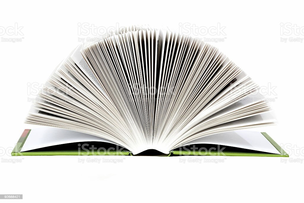 open book with light page roll royalty-free stock photo