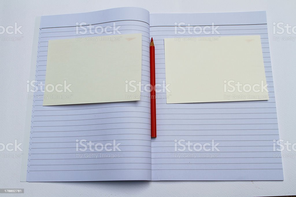 Open Book with pencil royalty-free stock photo