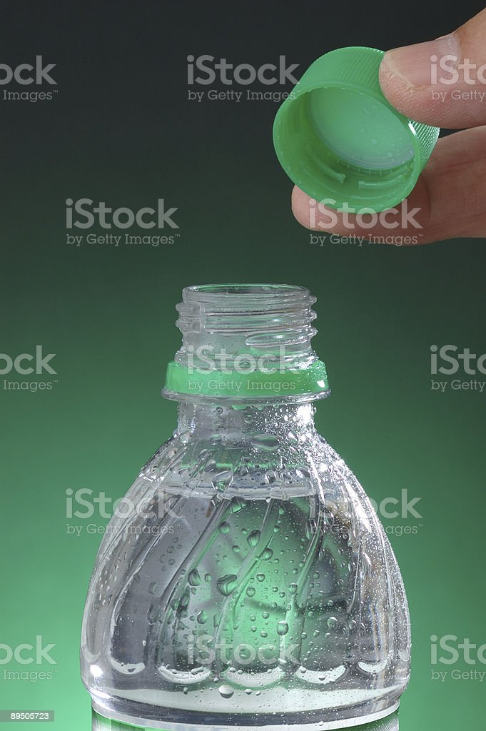 Open Bottled Water royalty-free stock photo