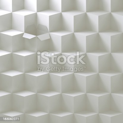 istock Open box in a stack 183062271