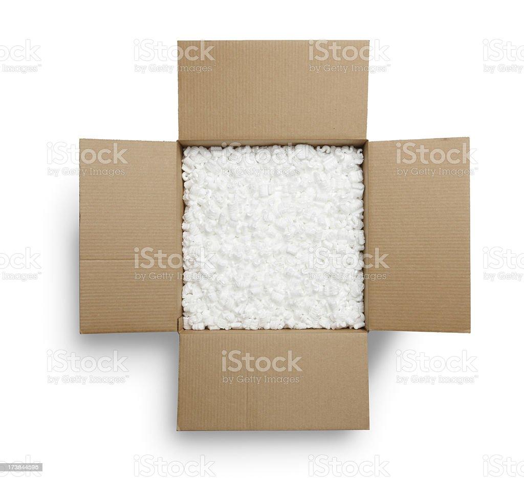 Caja abierta - foto de stock