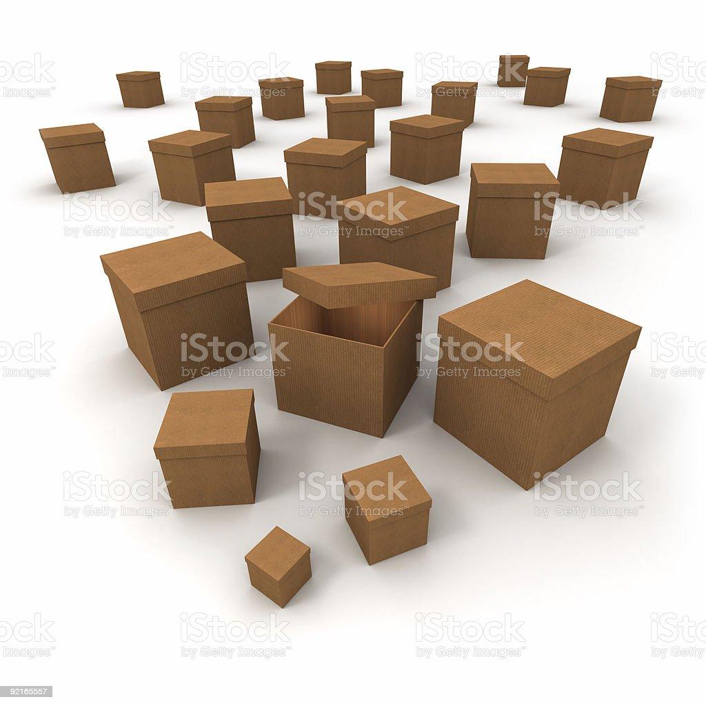 Open box royalty-free stock photo