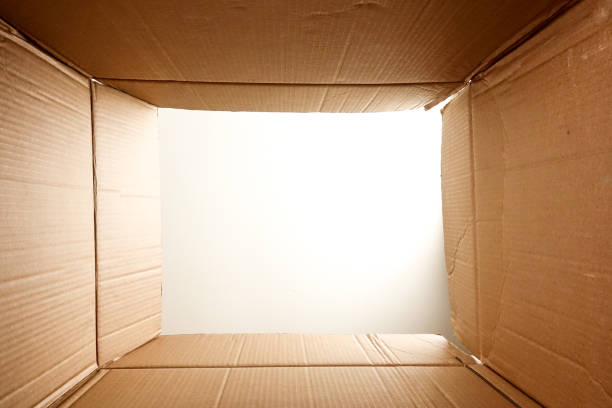 Open box point of view - foto stock
