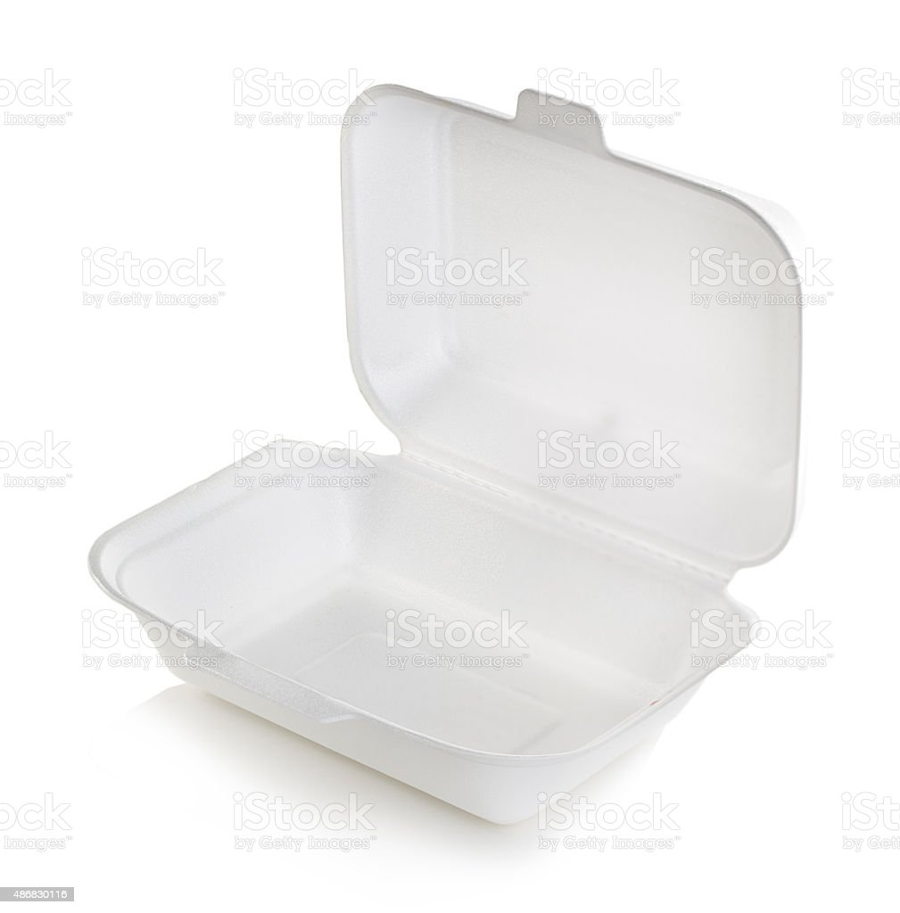 Open box white isolated stock photo