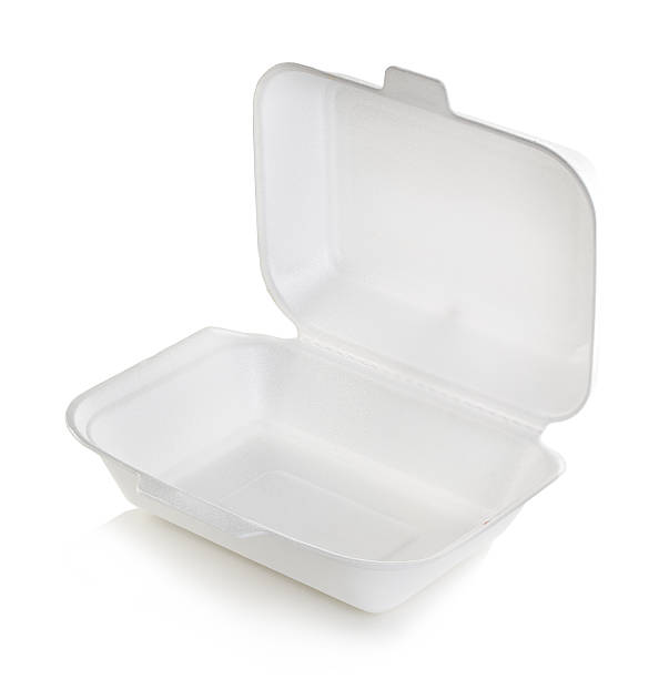 Open box white isolated stock photo