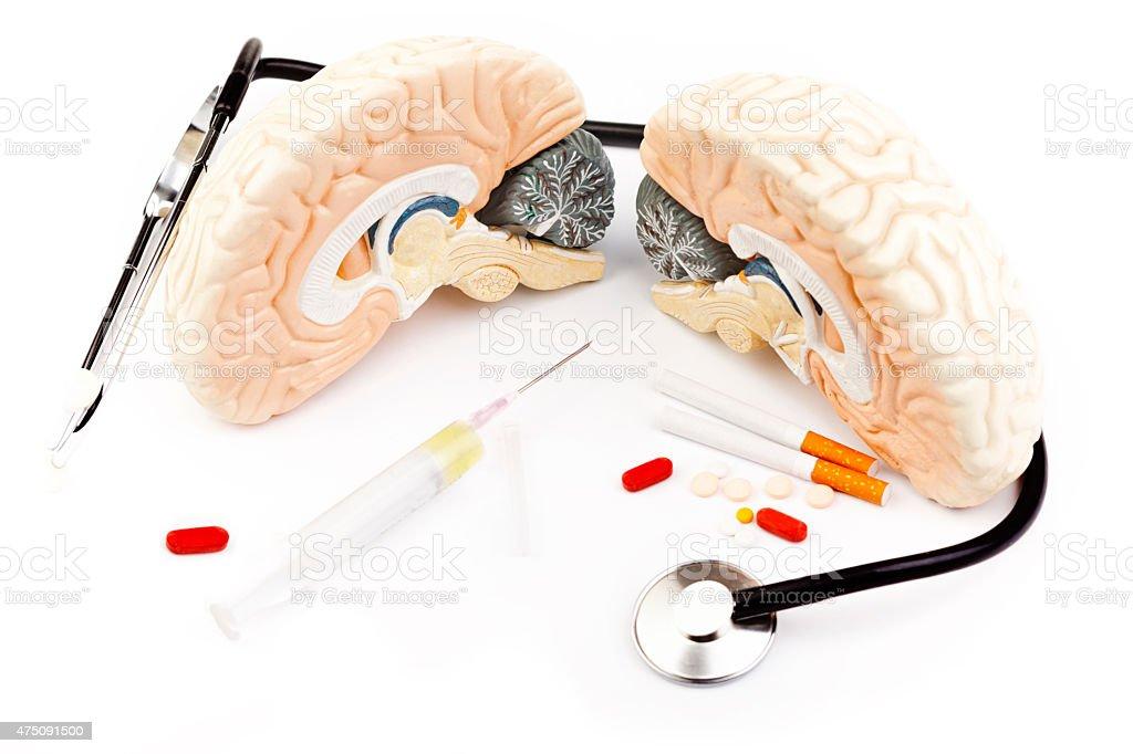 Open brain stock photo