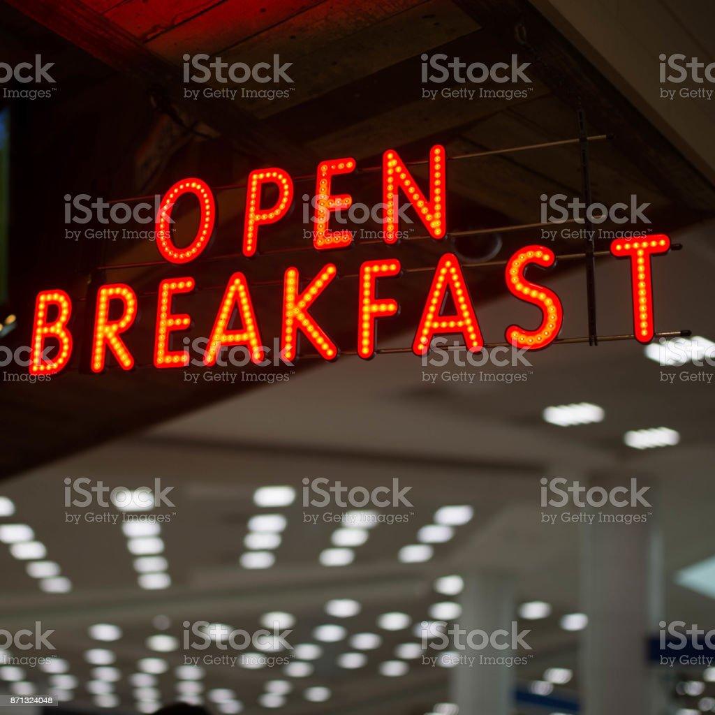Open breakfast stock photo