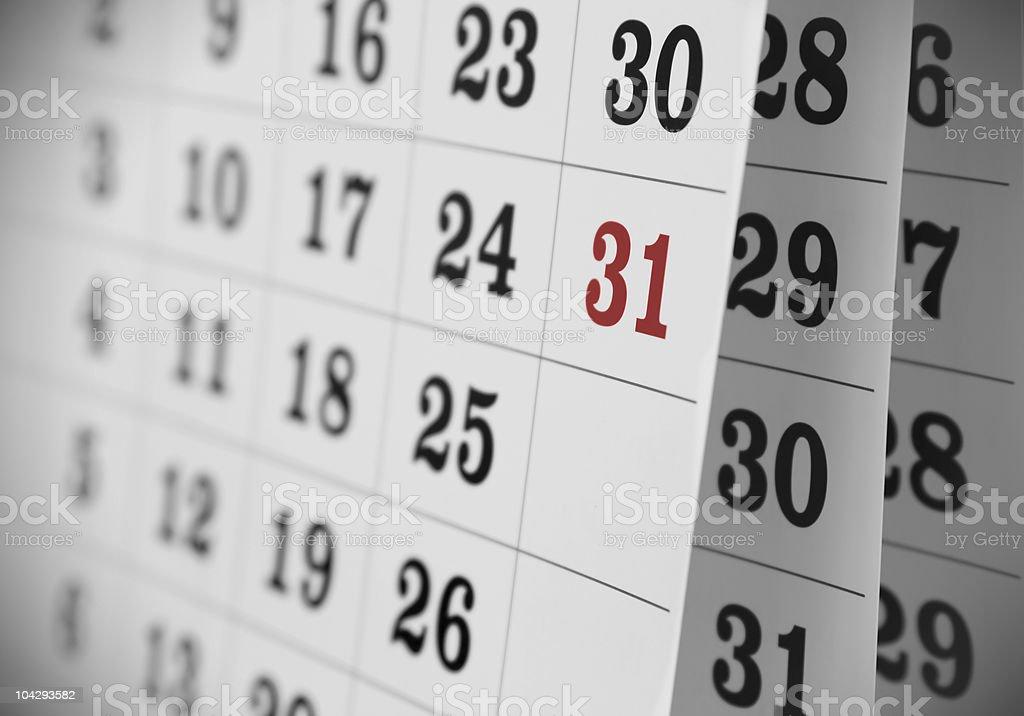 Open Calendar royalty-free stock photo