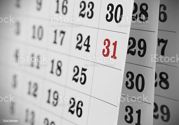 Open Calendar Stock Photo - Download Image Now