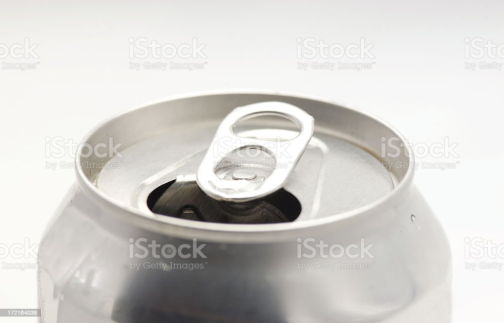 Open can of soda pop stock photo