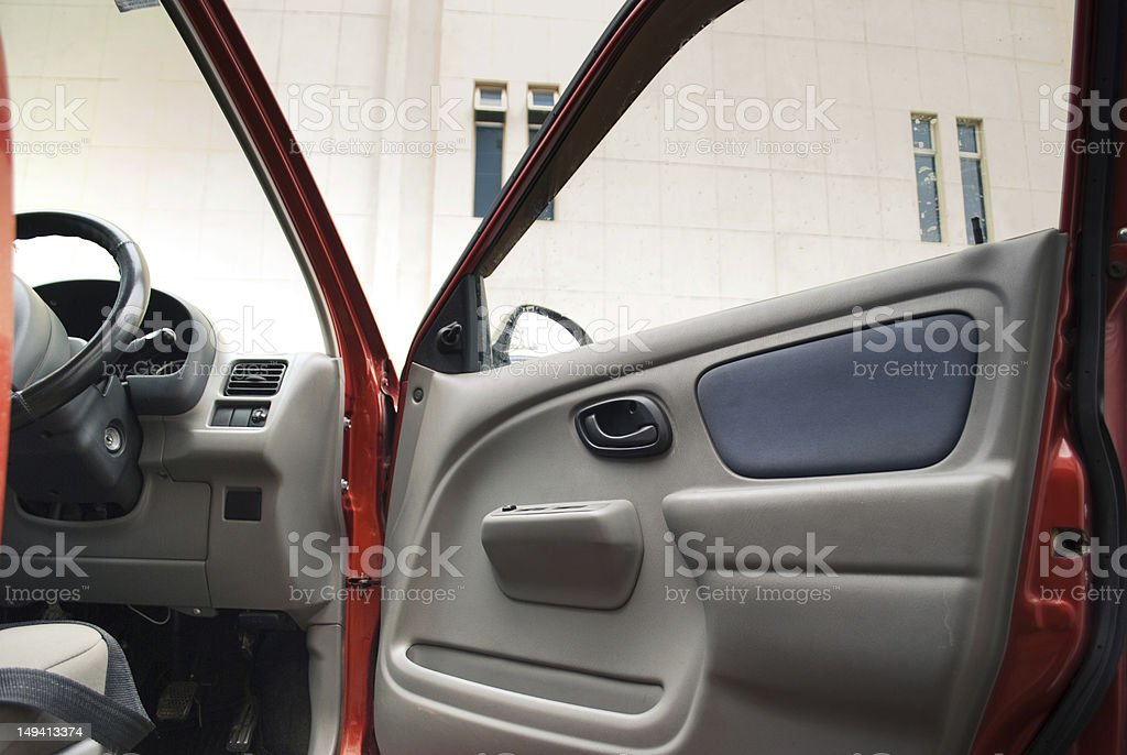 Open car door stock photo