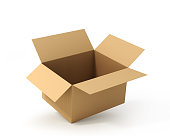 istock Open cardboard box. Delivery 898906676