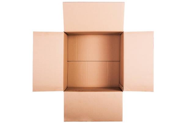 open cardboard box - puste pudełko zdjęcia i obrazy z banku zdjęć