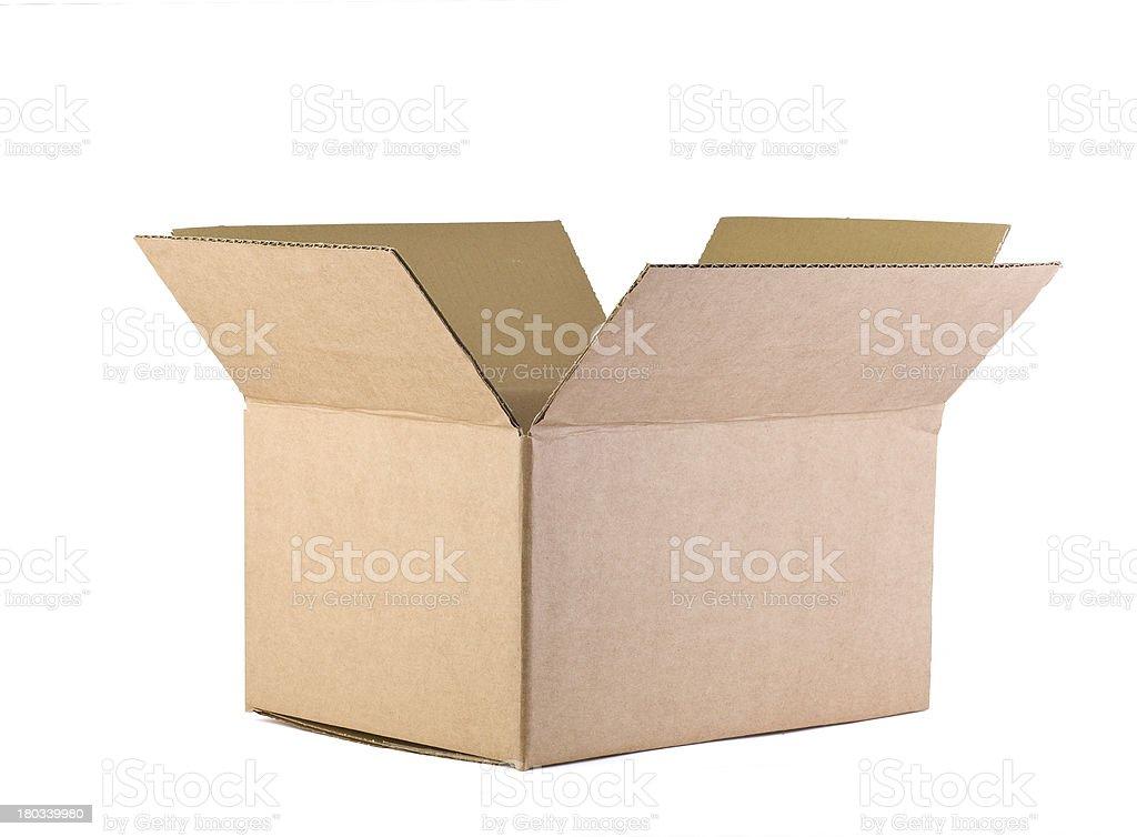 Open Cardboard Box stock photo