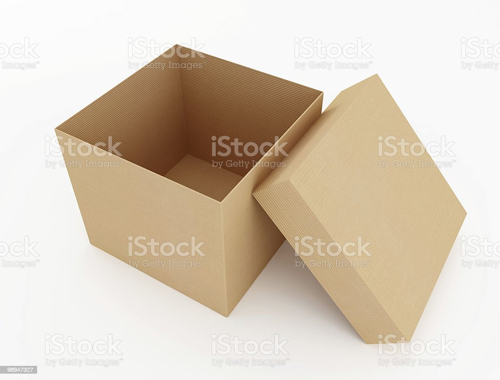 open cardboard box royalty-free stock photo
