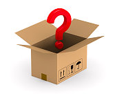 istock open cargo box and question on white background. Isolated 3D illustration 943798006