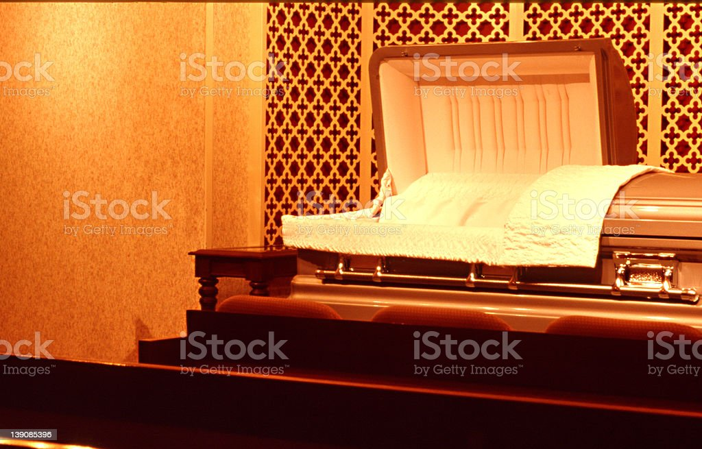 Open Casket royalty-free stock photo