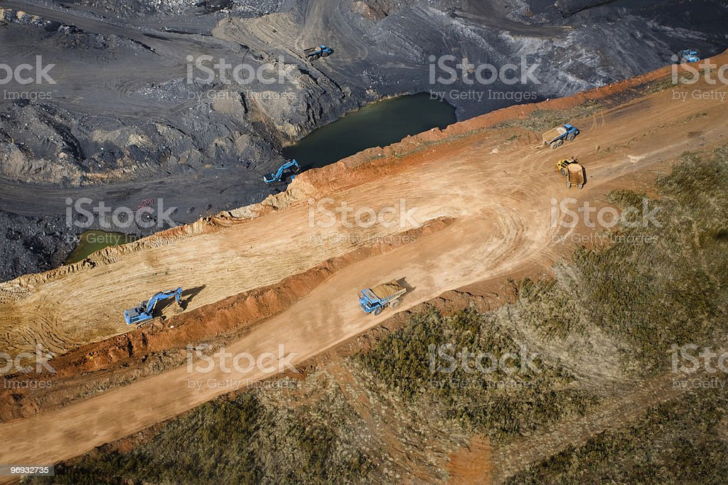 Open Cast Coal Mining Operation stock photo