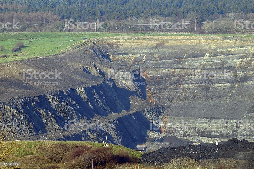open cast mine royalty-free stock photo