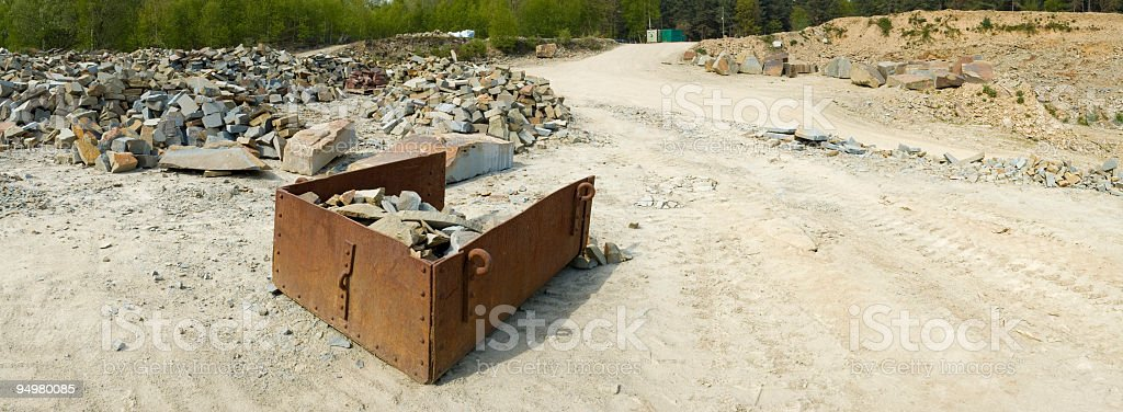 Offene Gipsverband mine – Foto