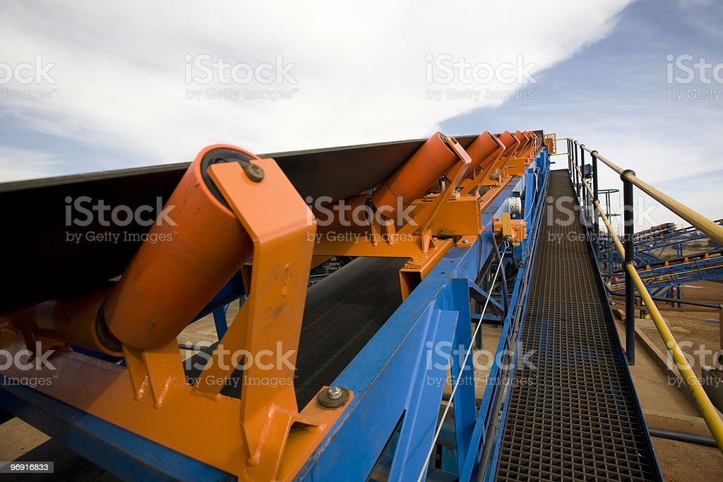Open Cast Mining Operation stock photo