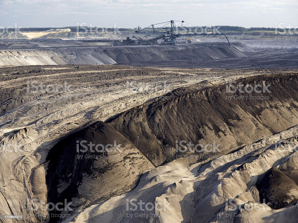 Open Cast Mining royalty-free stock photo