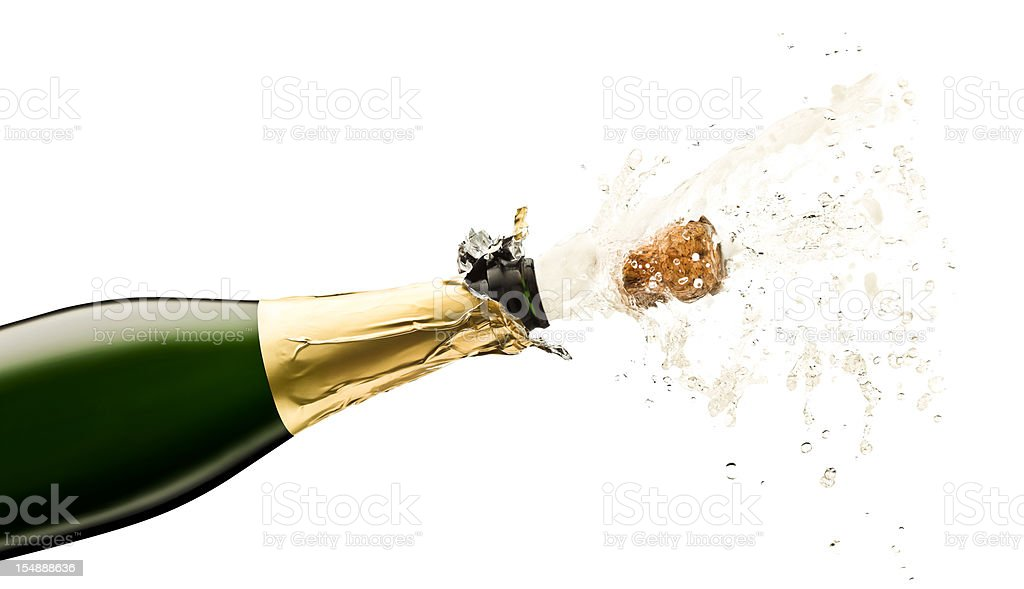Open Champagne Bottle stock photo