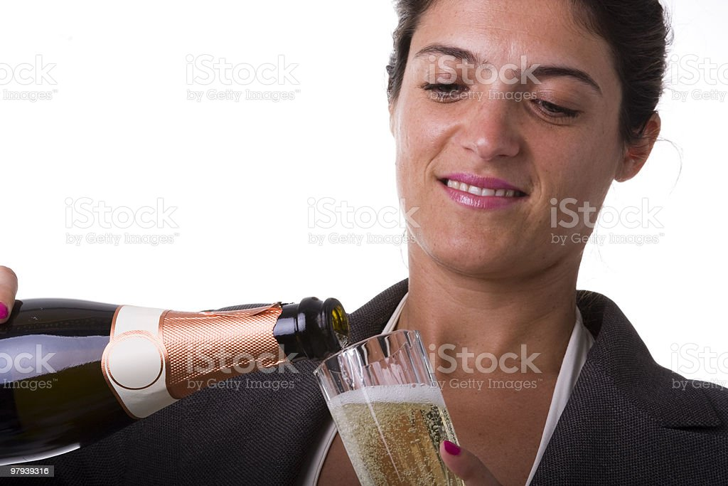Open champagne royalty-free stock photo