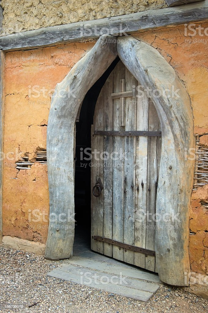 Open Church Door stock photo