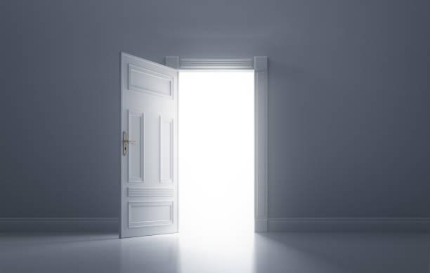 Open Classic Door stock photo
