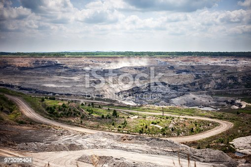 istock Open coal mine in Russia 972095404