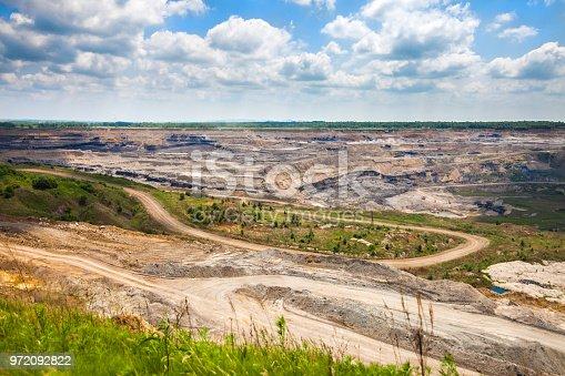 istock Open coal mine 972092822