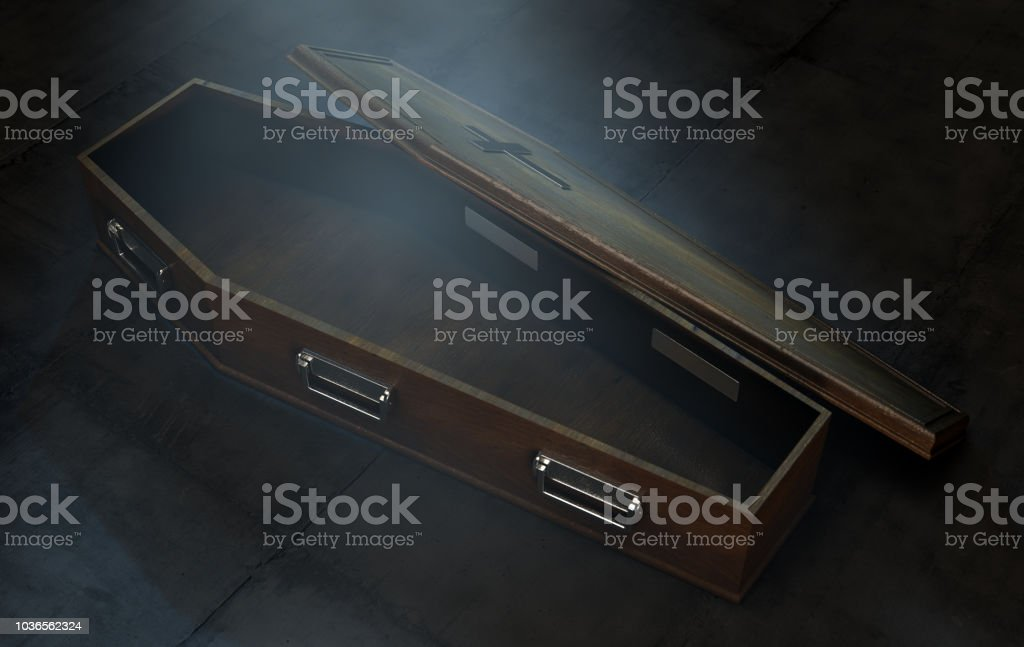 Open Coffin stock photo