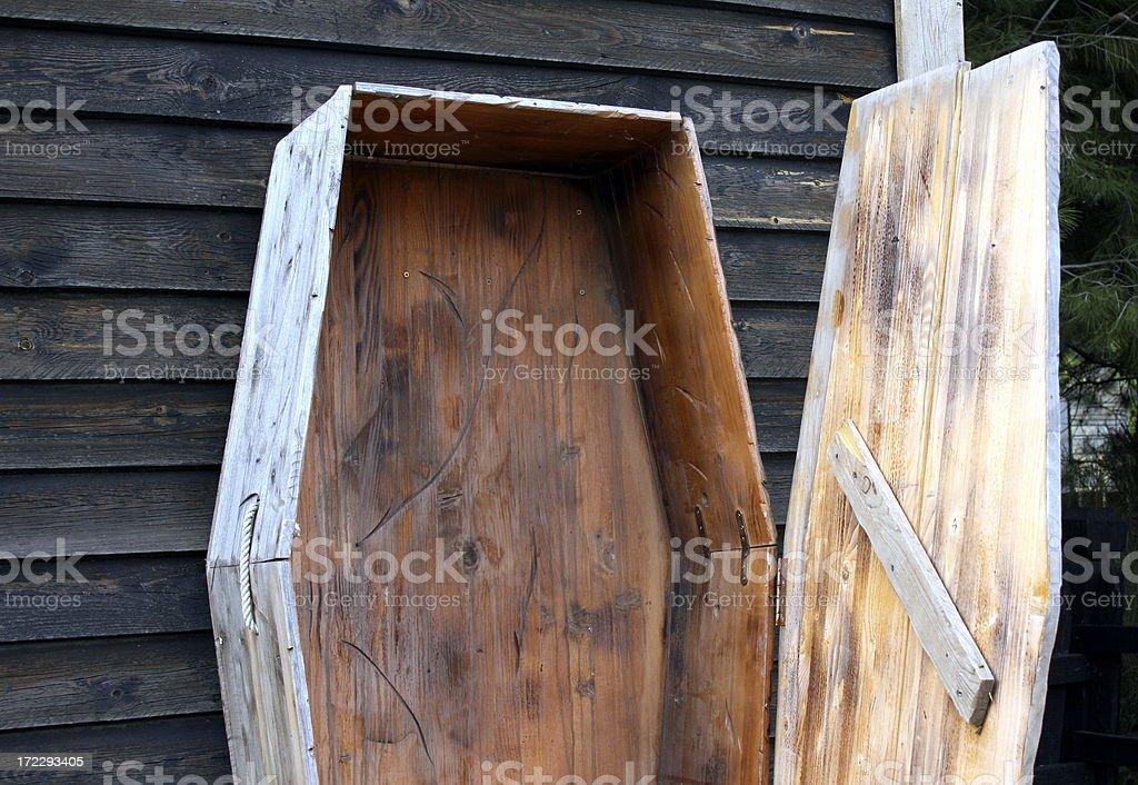 open coffin stock photo