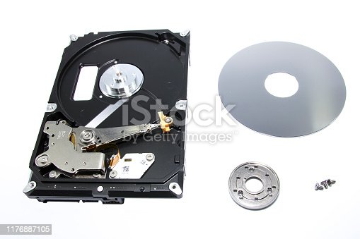 istock Open computer HD with white background in studio photo 1176887105