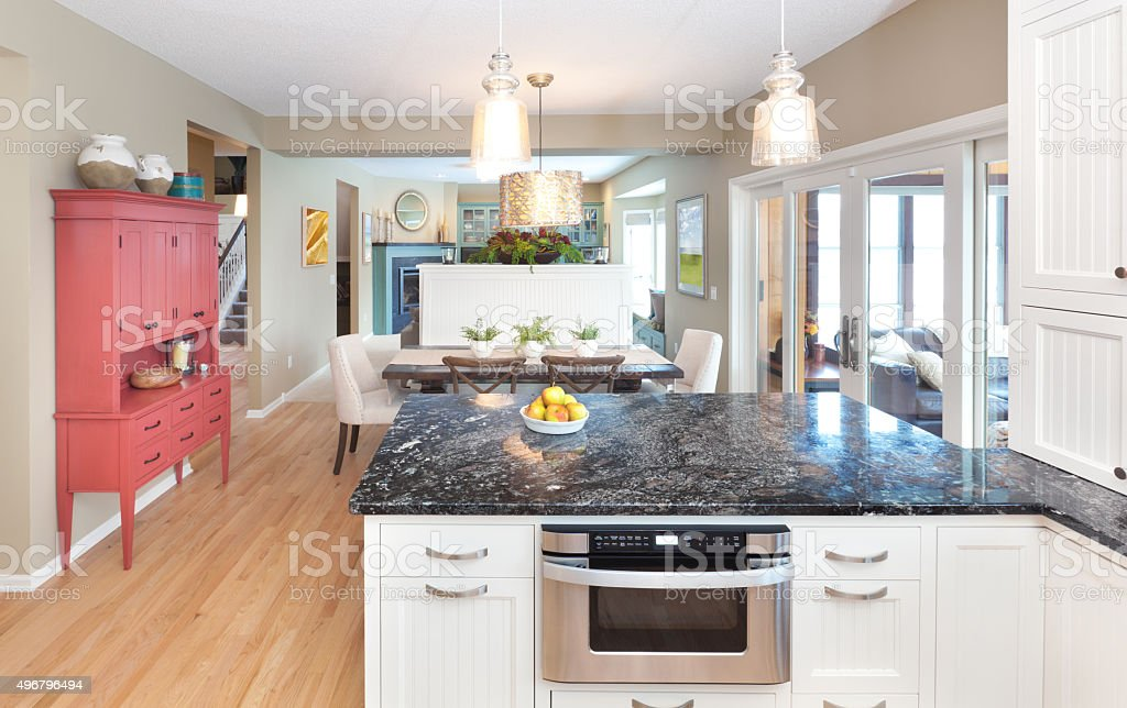 Open concept kitchen dining