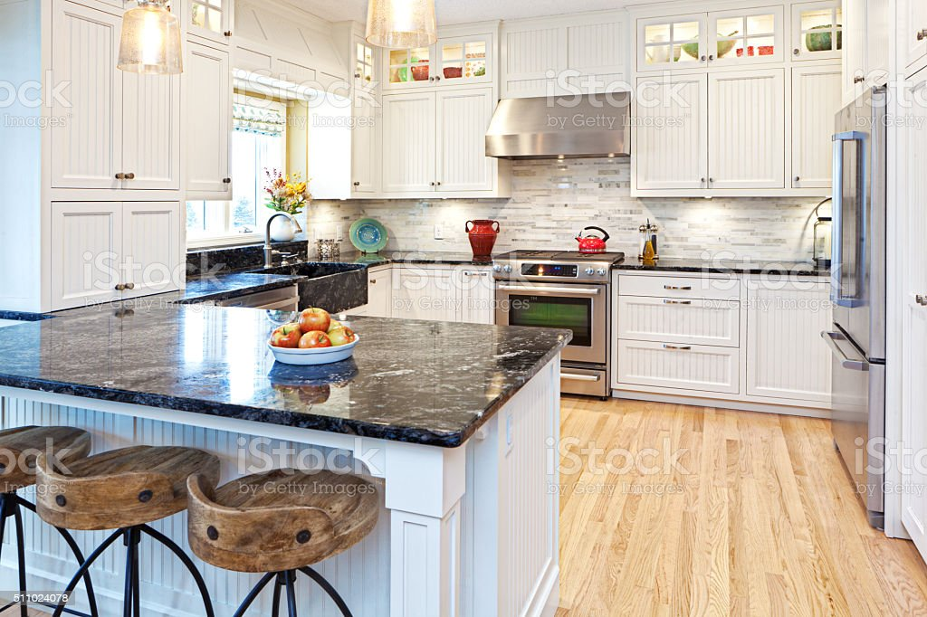Open Concept Home Kitchen Remodeling Improvement and Addition Interior Design stock photo
