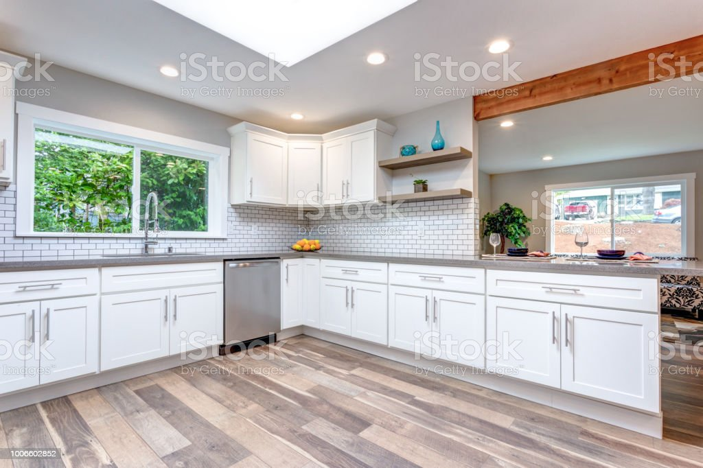 Open Concept Kitchen Equipped With Stainless Steel Appliances Stock Photo Download Image Now Istock