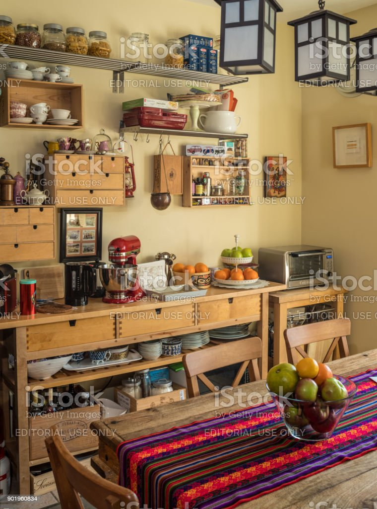 Open Concept Kitchen interior stock photo