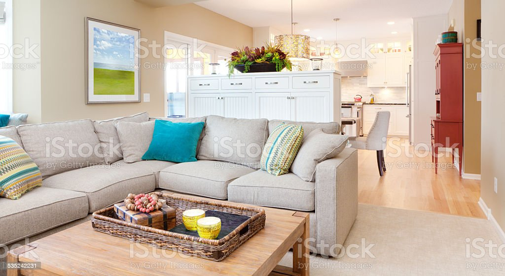 Open Concept Modern Family Room Den And Kitchen Design Royalty Free Stock  Photo Part 68