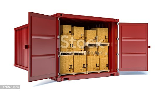 istock open container with cardboard boxes 470520374