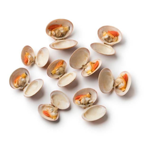 open cooked smooth clams - mięczak zdjęcia i obrazy z banku zdjęć