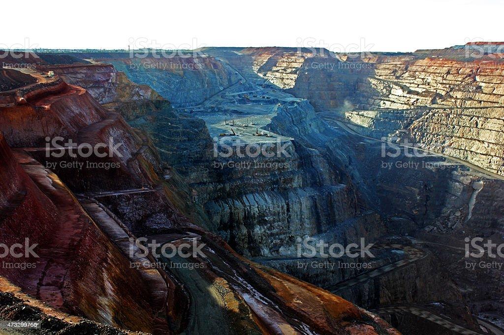 Open Cut Gold Mine stock photo