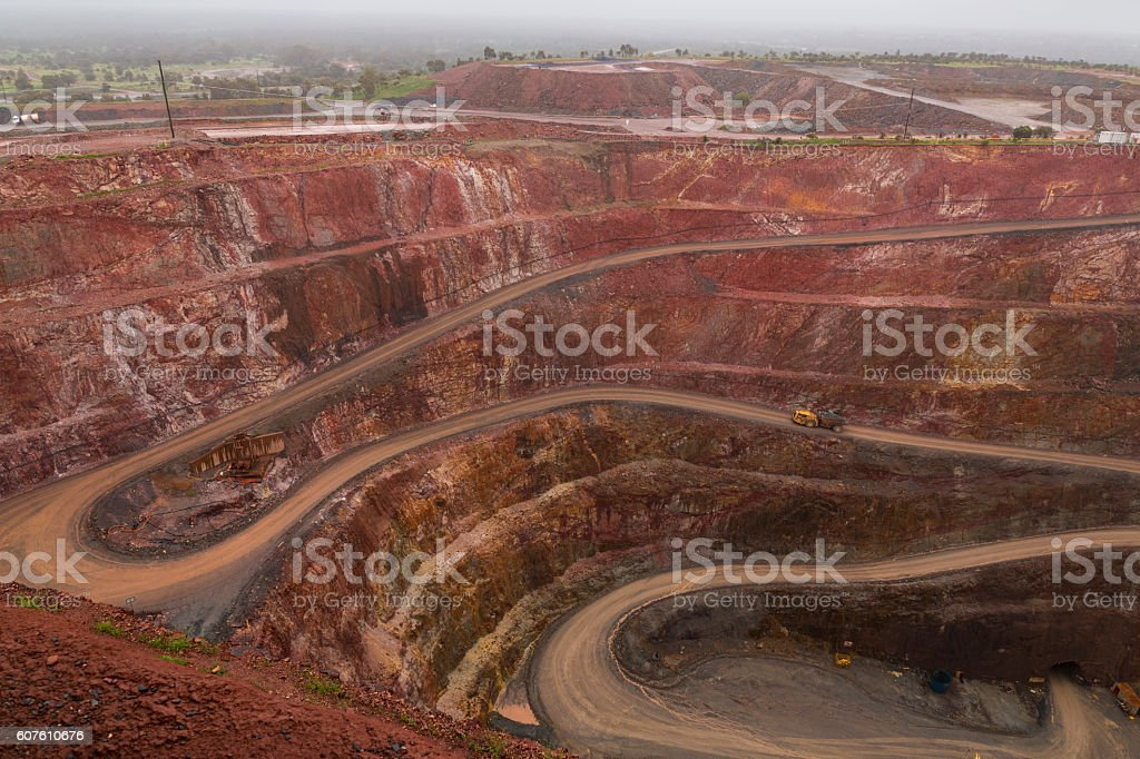 Open cut Mine stock photo