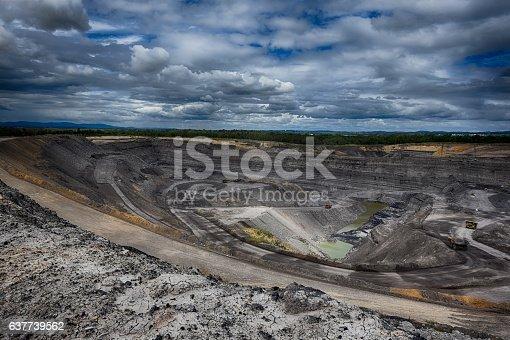 istock Open cut mine 637739562