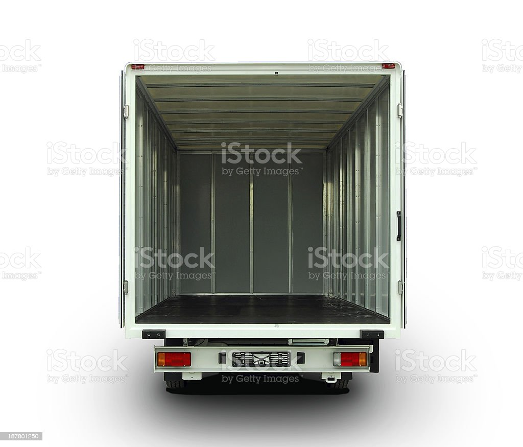 open delivery van stock photo