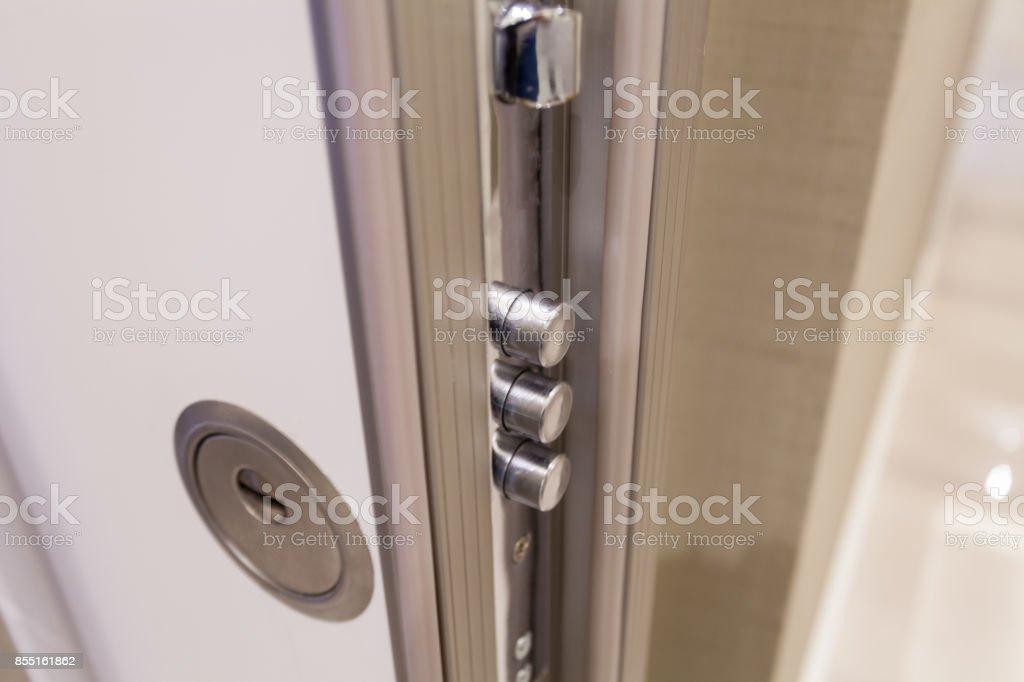 Open door closeup stock photo