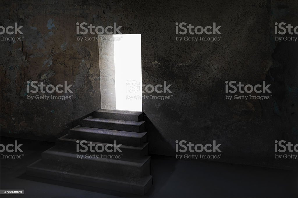 Royalty Free Open Door In A Dark Room With Light Outside Pictures